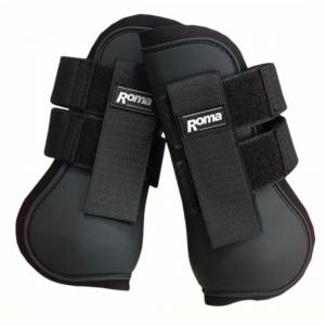 Roma Open Front Jump Boots Black