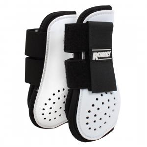 Roma Open Front Vent Tendon Boot White