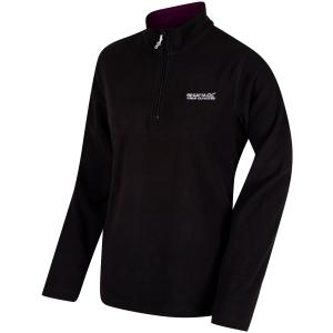 Regatta Ladies Sweethart Lightweight Half-Zip Fleece Black Blackcurrent