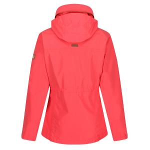 Regatta Ladies Narelle Lightweight Waterproof Funnel Neck Jacket Red Sky