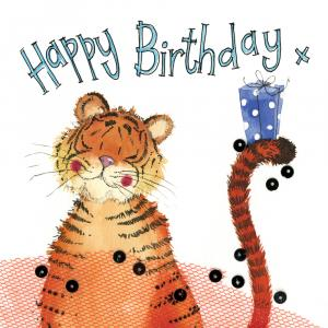 Alex Clark Sparkle Card Tiger and Gift