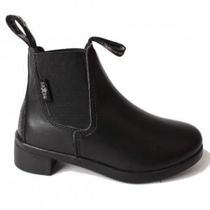 Saxon Childrens Syntovia Jodphur Boots Black