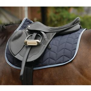 Saxon Element Quilted All Purpose Saddle Pad Navy/Blue