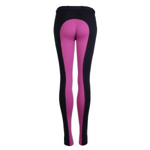 Saxon Ladies Warm Up Euro Seat Jodhpurs Navy/Purple