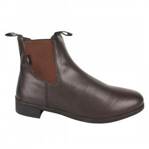 Saxon Mens Syntovia Zip Jodphur Boots Brown