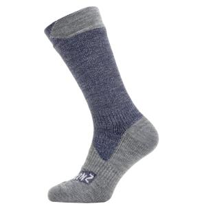 Sealskinz Waterproof All Weather Mid Sock Navy/Grey