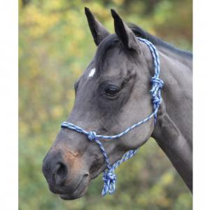 Shires Adjustable Rope Halter Navy/White