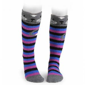 Shires Adult Fluffy Socks Cat