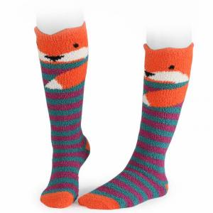Shires Adult Fluffy Socks Fox