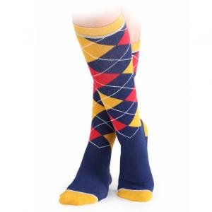 Shires Childs Argyle Socks Royal Blue