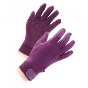 Shires Childs Newbury Riding Gloves Purple
