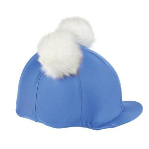 Shires Double Pom Hat Cover Blue