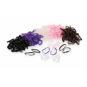 Shires Ezi-Groom Silicone Plaiting Bands Brown