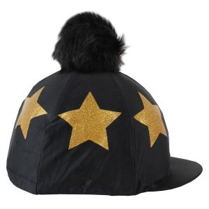 Shires Glitter Star Hat Cover Black