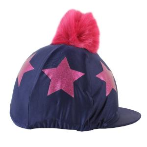 Shires Glitter Star Hat Cover Navy