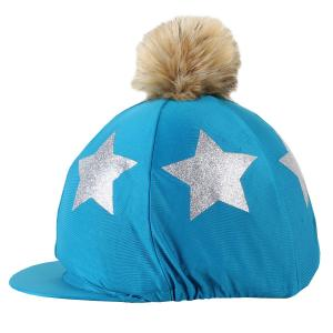 Shires Glitter Star Hat Cover Teal