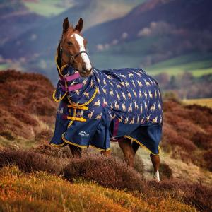 Shires Highlander Original 200 Medium Weight Combo Neck Turnout Rug Stag Print