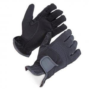 Shires Adults Bicton Lightweight Competition Gloves Black