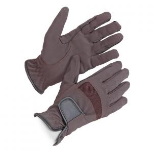 Shires Kids Bicton Lightweight Competition Gloves Brown