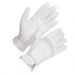 Shires Adults Bicton Lightweight Competition Gloves White