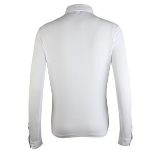 Shires Ladies Long Sleeve Tie Collar Show Shirt White