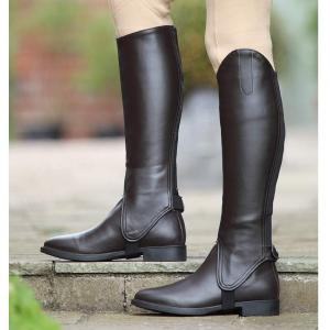 Shires Ladies Synthetic Leather Gaiters Brown