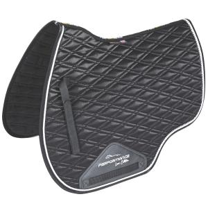 Shires Performance Euro Cut Luxe Saddle Pad Black