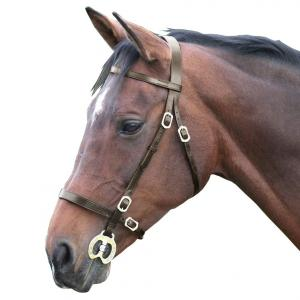 Shires Plain Inhand Bridle Havana