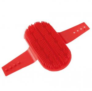 Plastic Curry Comb Red