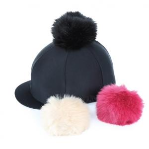 Shires Switch It Pom Pom Hat Cover Black