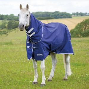 Shires Tempest Limited Edition Original 0g Lightweight Detach-A-Neck Turnout Rug Navy/Grey/White