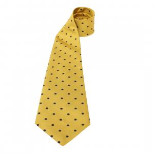 ShowQuest Adults Medium Spot Show Tie Yellow/Navy