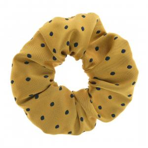 ShowQuest Medium Spot Show Scrunchie Yellow/Navy
