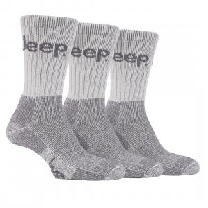 Jeep® Mens Terrain Socks 3 Pack Ecru