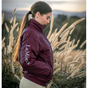 Team LeMieux Unisex Waterproof Team Jacket Burgundy