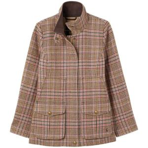 Joules Ladies Field Coat Pink Tweed