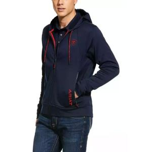 Ariat® Mens Keats Full Zip Hoodie Team Navy