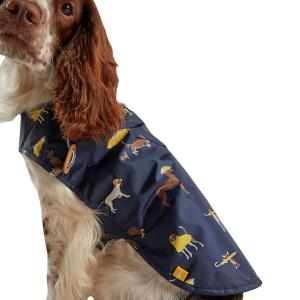 Joules Water Resistant Dog Coat Coastal Dog Print