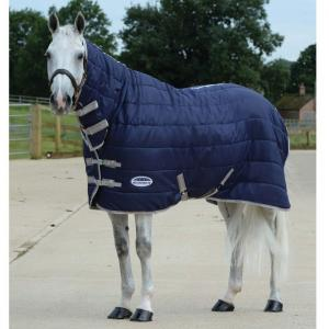 WeatherBeeta ComFiTec 210D Channel Quilt 110g Light-Medium Weight Combo Stable Rug Navy/Silver/Red
