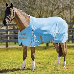 WeatherBeeta ComFiTec Classic 0g Lightweight Standard Neck Turnout Rug Light Blue/Taupe