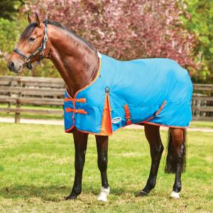 WeatherBeeta ComFiTec Classic 220g Medium Weight Standard Neck Turnout Rug Blue/Flame