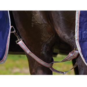 WeatherBeeta ComFiTec Essential 220g Medium Weight Combo Neck Turnout Rug Iron/Flame