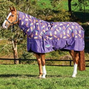 WeatherBeeta ComFiTec Essential 220g Medium Weight Combo Neck Turnout Rug Otter Print