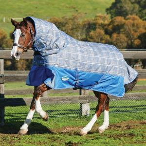 WeatherBeeta ComFiTec Premier Free 360g Heavy Weight Detach-A-Neck Turnout Rug Grey Plaid