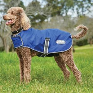 WeatherBeeta ComFiTec Windbreaker Free Parka Dog Coat Dark Blue/Grey/White