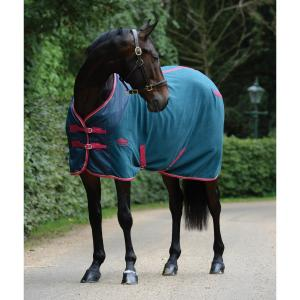 WeatherBeeta Fleece Cooler Standard Neck Rug Teal/Cerise/Yellow