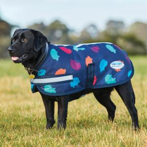 WeatherBeeta Parka 1200D Dog Coat Hedgehog Print