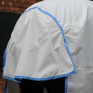 WeatherBeeta Sweet-Itch Shield Combo Neck Fly Rug White/Blue