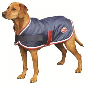 WeatherBeeta Windbreaker 420D Dog Rug Navy/Red/White