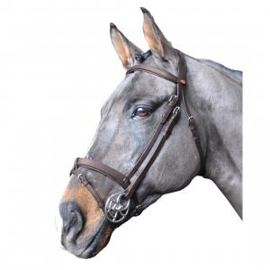 Whitaker Ready To Ride Snaffle Flash Bridle Havana